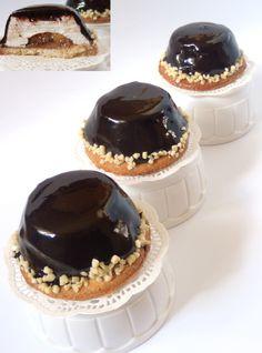 ptasie mleczko - kruche ciasto migdałowe, marmolada, mus ptasie mleczko, polewa czekoladowa