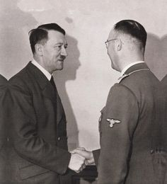 Hitler and Himmler in 1942 at the Wolfsschanze.