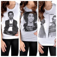 Stay stylin with a mug shot T-shirt from Bohme.