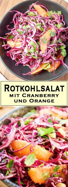 Rotkohlsalat mit Cranberry, Orange, Minze, Petersilie - Einfache Gesunde Rezepte - Elle Republic