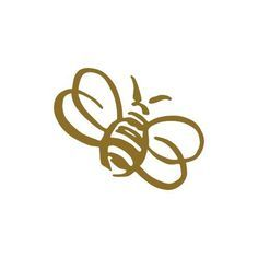 Bumble Bee small 3 Tall GOLD vinyl window decal sticker