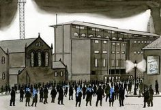 Painting of Goodison Park. Liverpool Town, Liverpool History, Football Art, Football Stadiums, Goodison Park, Everton Fc, Modern Metropolis, Club, Old Town