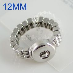 10pcs/lot Hot sale high quality fashion DIY metal Adjustable ring fit 12mm snap button rings jewelry KB0305-S