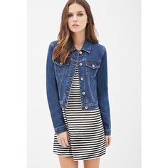 Forever 21 Classic Denim Jacket ($23) ❤ liked on Polyvore