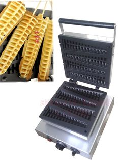 285.00$  Buy now - http://aliq9l.worldwells.pw/go.php?t=32604298488 - Free shipping Electric Pine shape lolly waffle machine Non-Stick Cooking Surface
