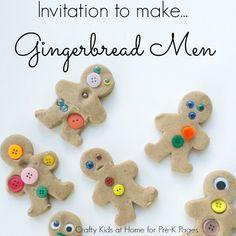 Play Dough Gingerbread Men Invitation