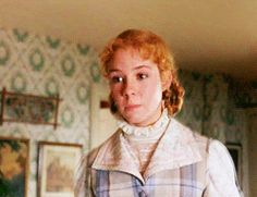 Anne smiling. Worth so much! Love her soo much!! need to rewatch Anne of Green Gables soon!