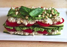 Raw zucchini lasagne: vegan