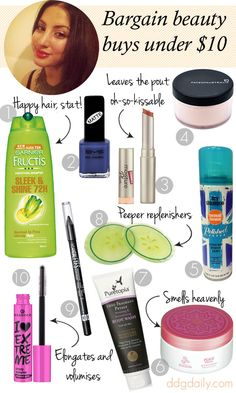 Wallet-Friendly: 10 bargain beauty buys under $10 - dropdeadgorgeousdaily.com