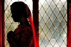 Colorful Hindu bride silhouette. - Taken during a real wedding, I wanted to place emphasis on the beautiful colours.
