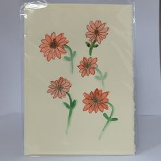 Greeting Card - Blank inside by LeavesOfPaper #handmade #greetingcard #flowers