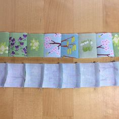 8. Sew pieces in each row together at the sides