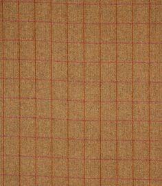 Burnt orange with brown tartan wool fabric http://www.justfabrics.co.uk/curtain-fabric-upholstery/hawthorn-arran-fabric/