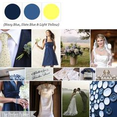 A Palette of Navy Blue, Slate Blue + White via The Perfect Palette. http://www.theperfectpalette.com/2010/06/summer-wedding-in-country.html