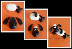 how to make shaun the sheep in fondant - Google Search