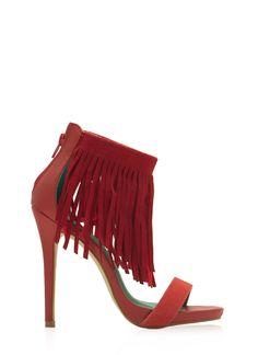 Fringe With Benefits Ankle Strap Heels - GoJane.com