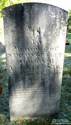Granite in My Blood: Tombstone Tuesday: Simeon GALLUP #genealogy