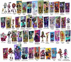 monster high dolls names list - Google Search: