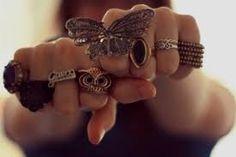 anéis diferentes e lindos
