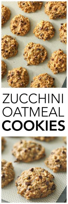Zucchini Oatmeal Cookies on SixSistersStuff.com | Made with whole wheat flour and no refined sugar these cookies taste so amazing your kids won't even know they're healthy! | Healthy 4th of July Snacks | Cookie Recipes | Kid Approved | Dessert Idea