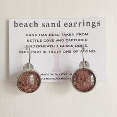 Kettle Cove Beach Sand Jewelry from Boheme Chic on Etsy #jewelry #sand #beach