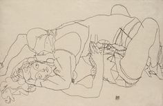 Sketch by Egon Schiele, 1915, Lovemaking.