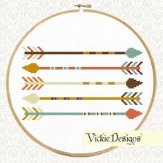 Five Arrows Geometric Minimalist Modern Cross by VickieDesigns, $5.00