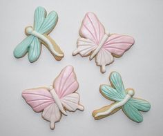 butterfly and dragonfly cookies