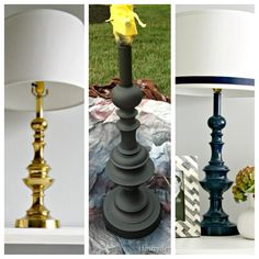 Easy DIY lamp redo with spray paint