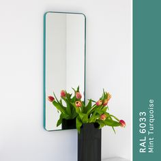 Mint turquoise rectangular silver mirror #mintturquoise #rectangularmirror #mirror #silvermirro Mint Green, Turquoise, Mirror, Frame, Silver, Picture Frame, Money, Mirrors, Frames
