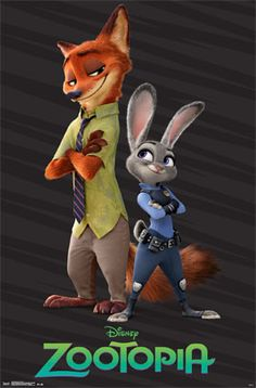 Disney Zootopia Partners Poster: Welcome to the urban jungle. Poster from Disney's Zootopia with partners artwork. Walt Disney, Cute Disney, Disney Art, Disney Couples, Nick Wilde, Disney And Dreamworks, Disney Pixar, Disney Characters, Tattoo Damen