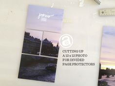 Cutting up 12x12 photos for Project Life® page protectors. #projectlife #scrapbooking