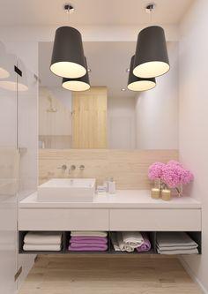 Kúpeľňa v škandinávskom štýle - SVIEŽI BYT Double Vanity, Bathroom, Bath Room, Bathrooms, Bath, Bathing, Bathtub, Toilet