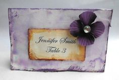 Wedding Table Number Escort Card Place Card Tag by AfternoonDelite, $2.00