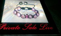 Pink Cancer Awareness Shambala Brlacelet