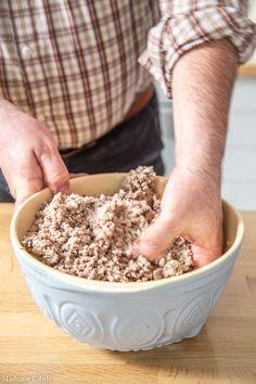 Krokiety z mięsem i pieczarkami - najlepszy przepis mojej mamy - Madame Edith Dog Food Recipes, Catering, Oatmeal, Yummy Food, Meat, Dinner, Pierogi, Cooking, Breakfast