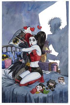Batman No.39 Variant - Jill Thompson - DC Comics - Harleen Quinzel - Harley Quinn - Comic Book Art