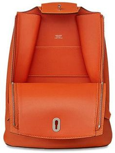 Either love it or don't, a new backpack has arrived at Hermes. Meet the Hermes Backpack; Hermes Bags, Hermes Handbags, Designer Handbags, Backpack Bags, Leather Backpack, Leather Bags, Leather Purses, My Bags, Purses And Bags