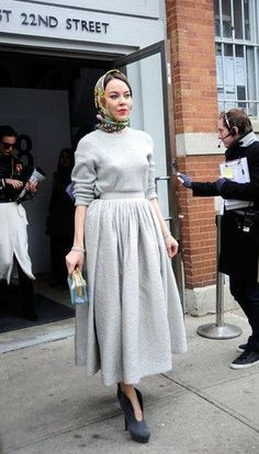 New York Fashion Week: Sophisticated yet soft full skirt