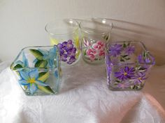Hand Painted Candle Holders - Very Pretty