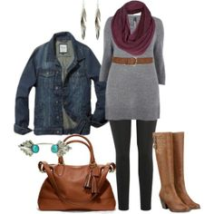 "Fall Tunic - Plus Size"" by alexawebb on Polyvore 