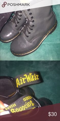 look alike doc martens grey, barely used Shoes Combat & Moto Boots