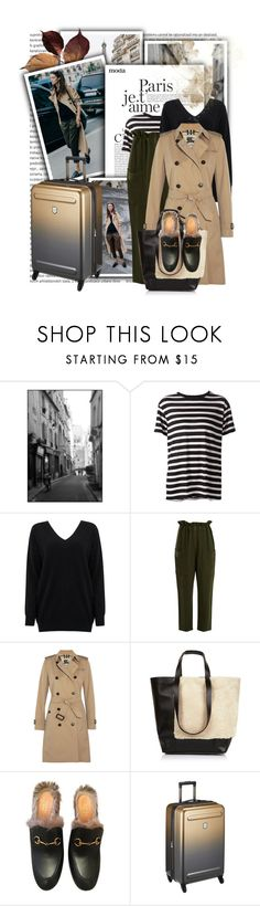 """""""Gucci Princetown"""" by tasha1973 ❤ liked on Polyvore featuring R13, Cocoa Cashmere, Apiece Apart, Burberry, Whistles, Gucci and Victorinox Swiss Army"""