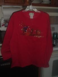 "Quacker Factory ""Fall"" Embroidered Sweatshirt Lady's size Large Mint!"