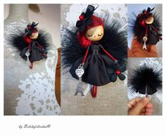 doll brooch  jewelry doll Paris