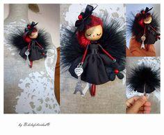 poupée de bijoux broche poupée Paris par Delafelicidad sur Etsy