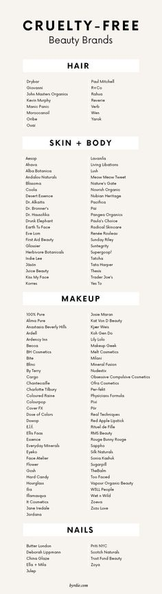 The Guide to Natural and Organic Beauty Brands