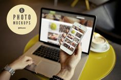 Check out 5 iPhone photo mockups by photo mockups on Creative Market #iphone #mockup