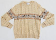Vintage Mens Fair Isle Sweater By Squaw Valley by SycamoreVintage, $25.00