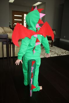 Anna's hand sewn DIY dragon costume